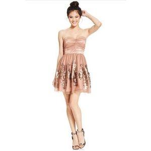 Hailey Logan Adrianna Papell tulle strapless dress